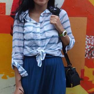 Stripe Kemeja Cutton On
