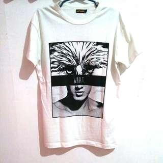 Artwork Unisex White Statement Shirt