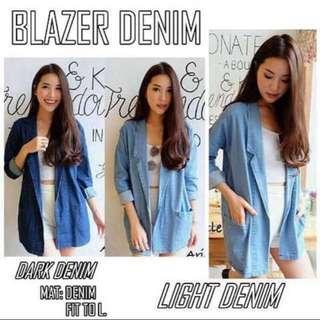 Outer denim / jaket / baju branded