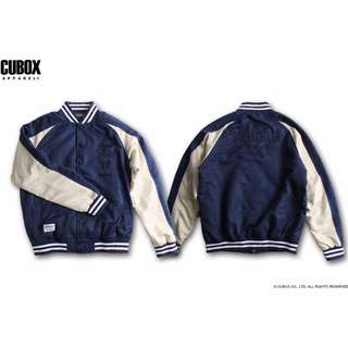 """CUBOX 2015""""A/W 獨立日拚色棒球外套 size:L"""