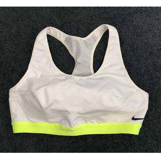 Nike sports bra white size M