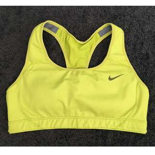 Nike sports bra green size S