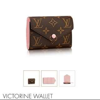 LV VICTORINE WALLET brand new Rose Ballerine
