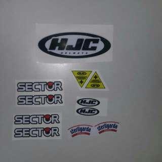 HJC Sticker set