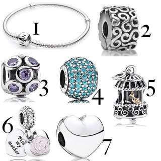Brand New Pandora Charms And Bracelet