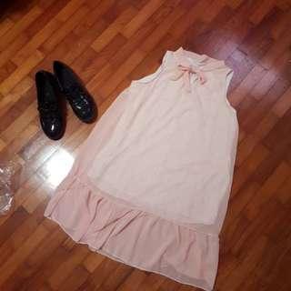 Salmon Pink Petite dress with Sailormoon Collar