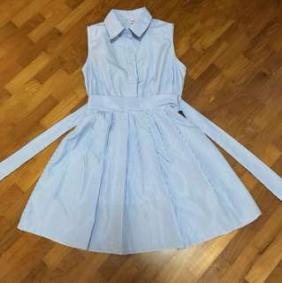 Traceyinny Light blue stripes dress