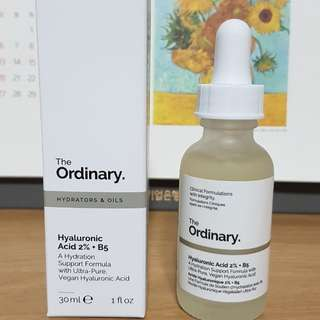 Authentic The Ordinary Hyaluronic Acid 2% + B5