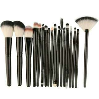18pc makeup brush set