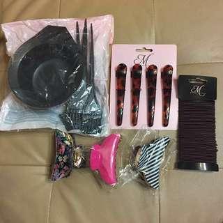 大減價tinting  bowl set and hair clip
