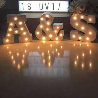 Alphabets lights