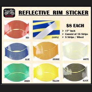 Reflective Rim Sticker