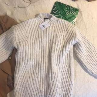 TOPSHOP Cream sweater size 2 (34), OVERSIZED