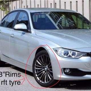 Bmw rim + rft tyre(runflat)