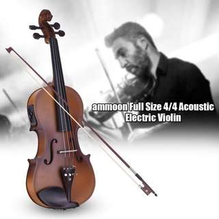 ammoon Electric Acoustic Violin Full Size 4/4
