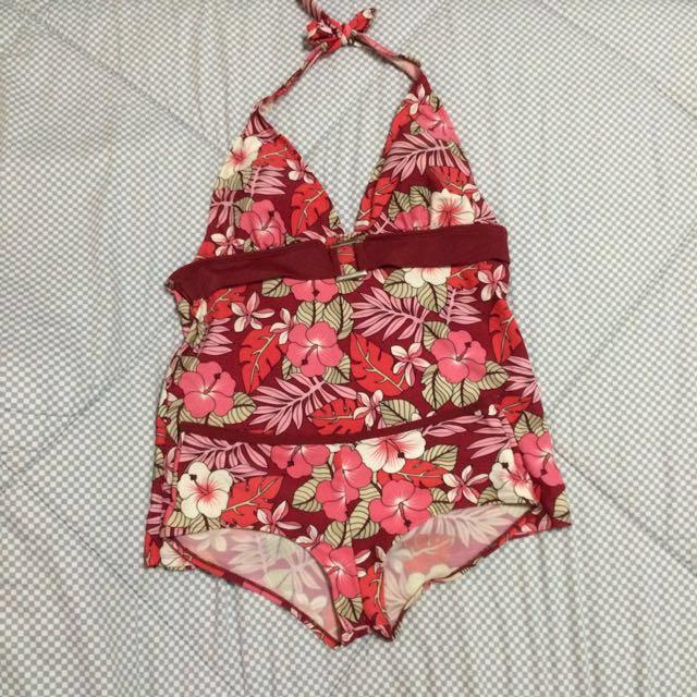 2 piece Floral Swim Suit
