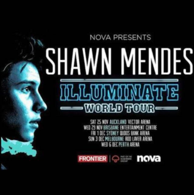 2 x Shawn mendes tickets row g from the stage