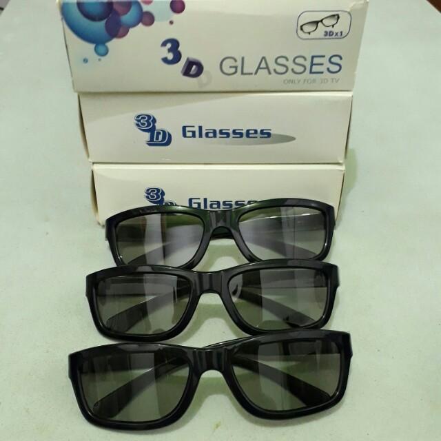 3D Glasses 3pcs