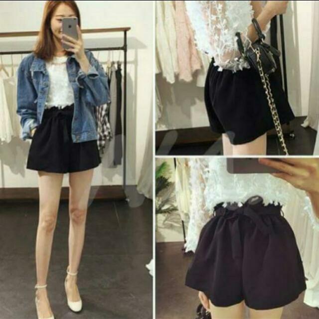 韓式花苞短褲裙