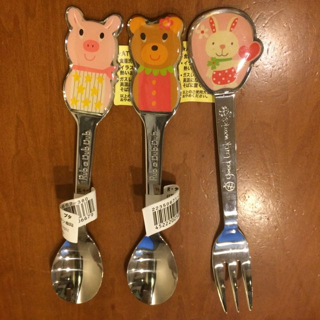 日本製不銹鋼兒童餐具(全新)
