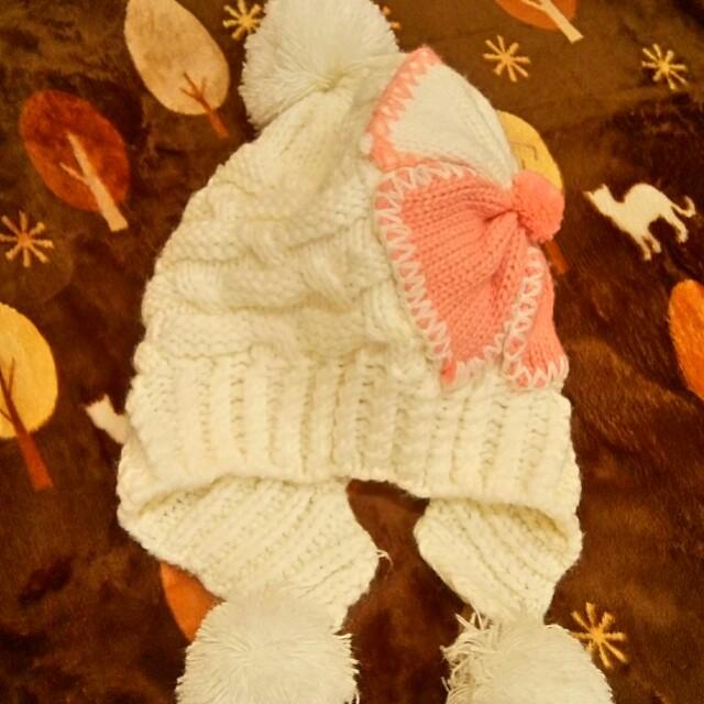 粉紅保暖毛球線帽,任帶本賣場任一商品就送 #好物免費送