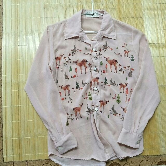 可愛小鹿襯衫
