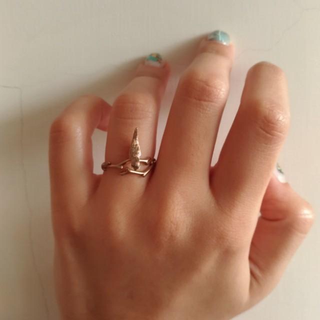 小鳥立體戒指(鋯石)