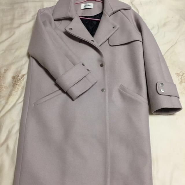 (韓貨)粉色大衣