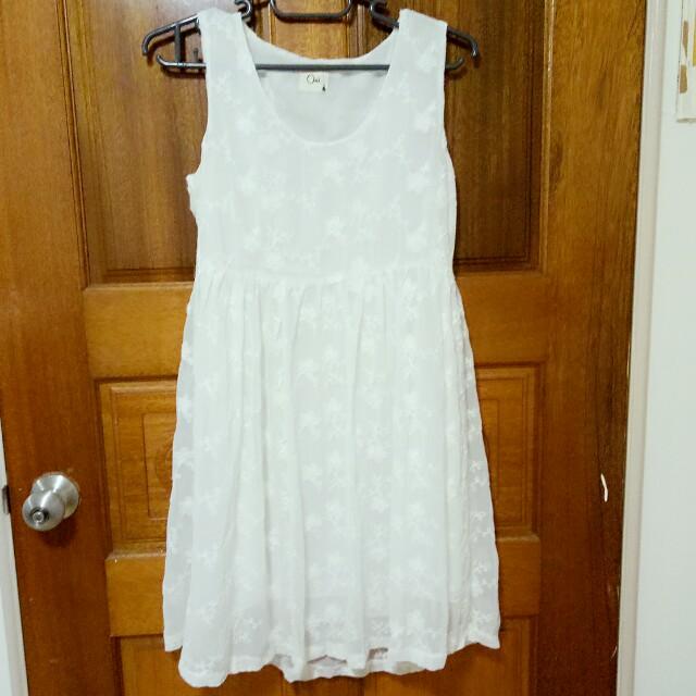 白色繡花洋裝#我的女裝可超取