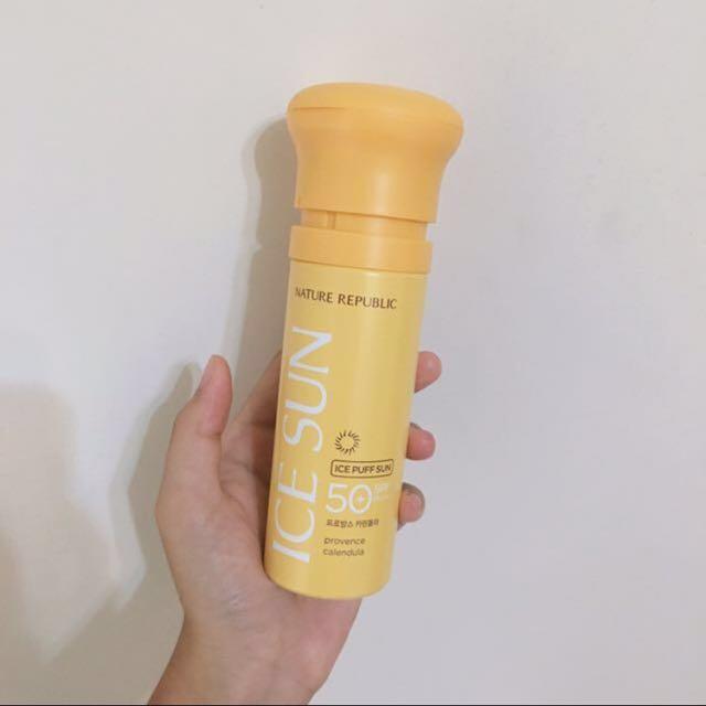 韓國金盞花 氣墊防曬粉膚霜/冰涼感