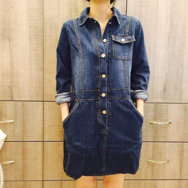 日本 牛仔刷色洋裝