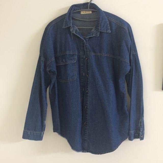 牛仔襯衫 牛仔外套 #兩百元丹寧