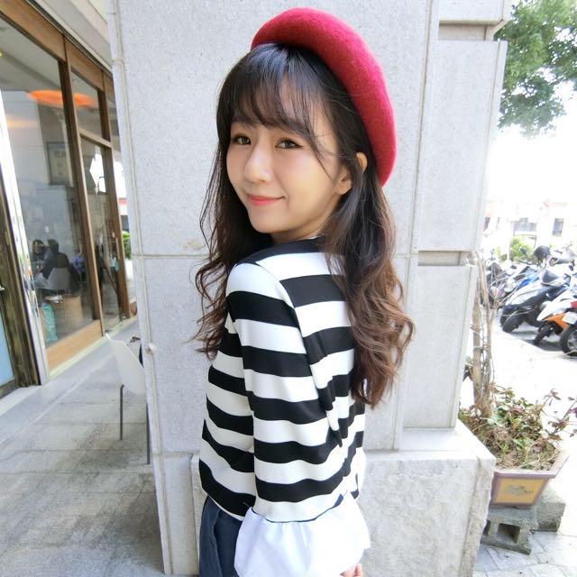 紅 貝雷帽 貝蕾帽 畫家帽