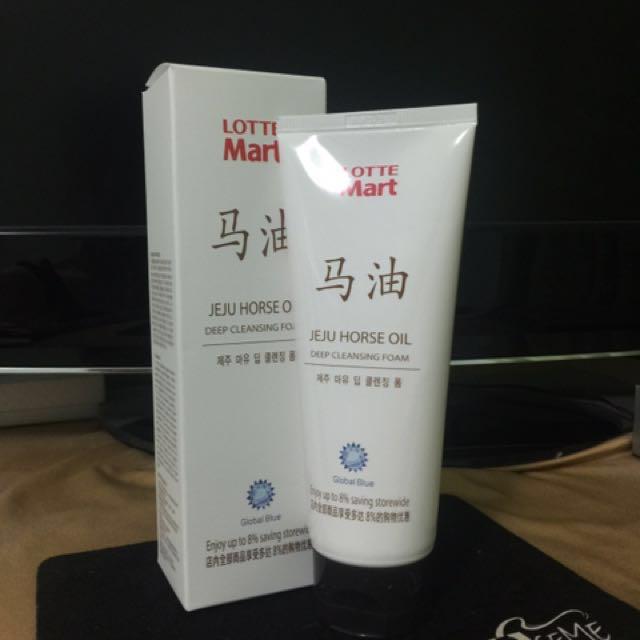 全新 韓國 Lotte Mart 樂天 濟洲 馬油深層洗面乳 150g