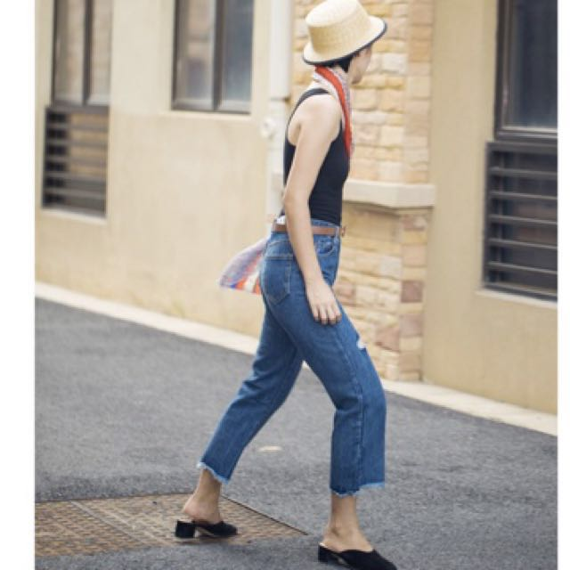 🆕 High Waist RippedJeans