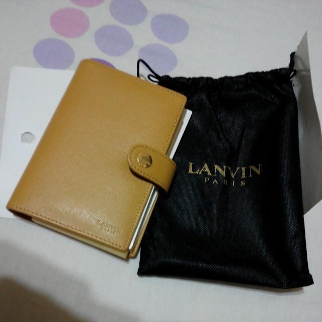 法國 LANVIN 真皮 筆記本