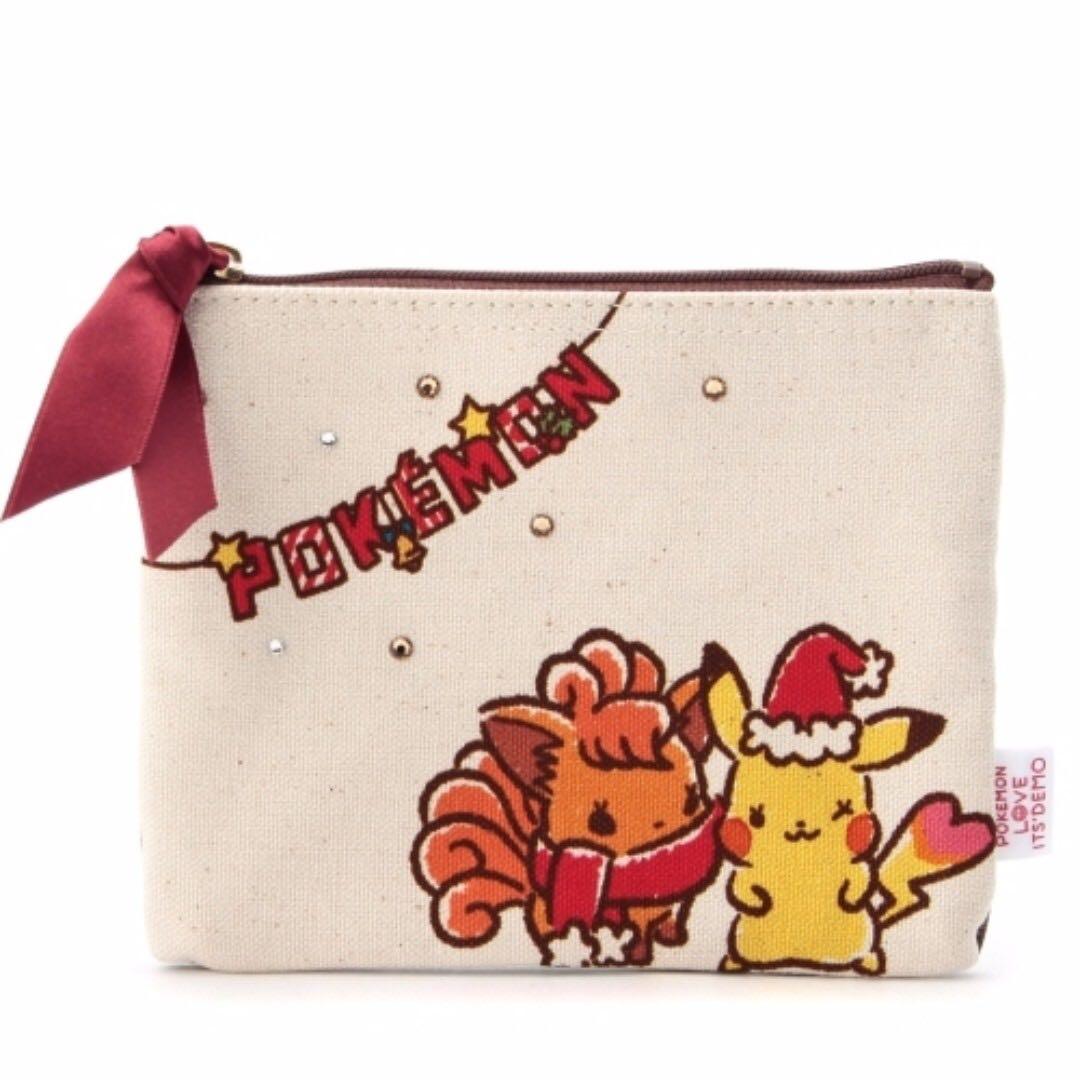 [日本限定聖誕新品]  Pokemon 皮卡丘與好友過聖誕化妝包