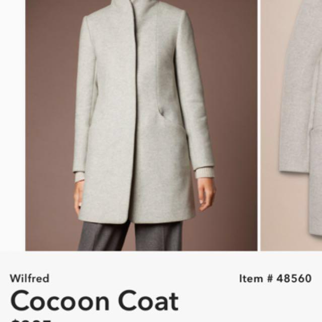 Aritzia Wilfred Cocoon Coat XXS