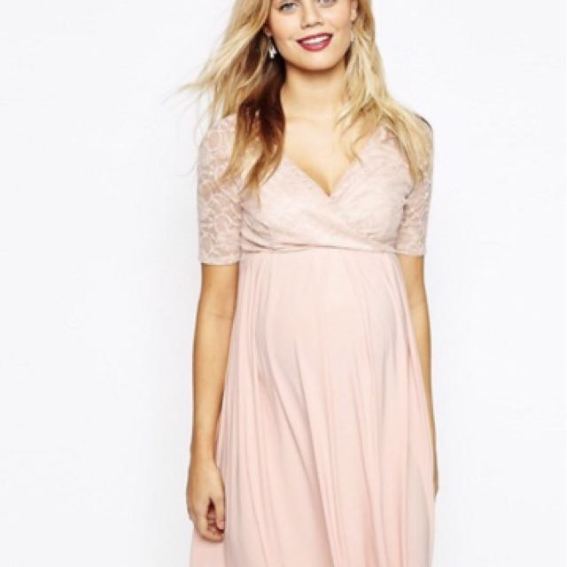 97c4733a57244 ASOS Maternity & Nursing Dress in Pink, Women's Fashion, Clothes ...