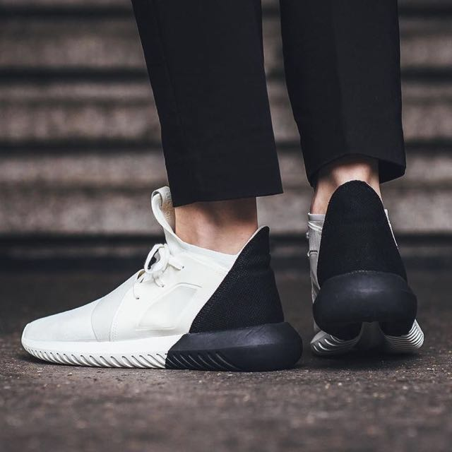 Authentic adidas originals tubular defiant w black white 9d37d3c81939