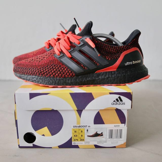 5f28a02f9 AUTHENTIC ADIDAS ULTRABOOST 2.0 SOLAR RED