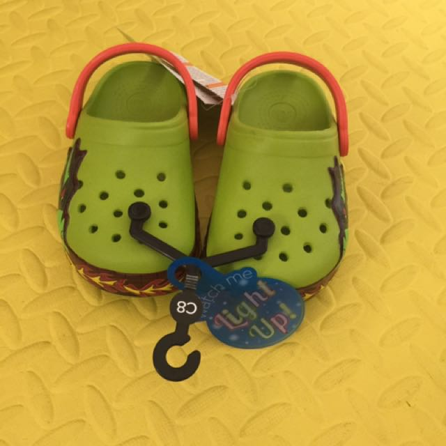 authentic crocs light up firedragon