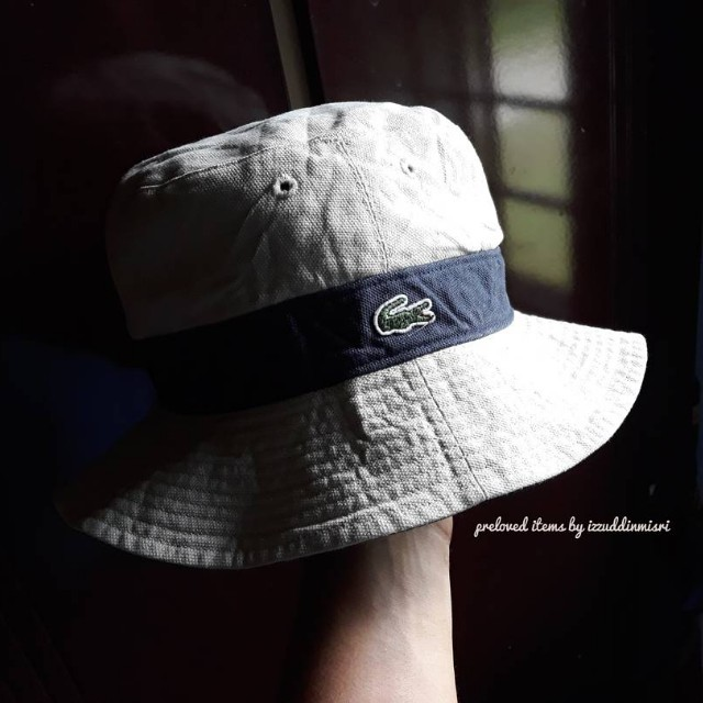 8f99cd9f640 Authentic LACOSTE 2 sided bucket hat!