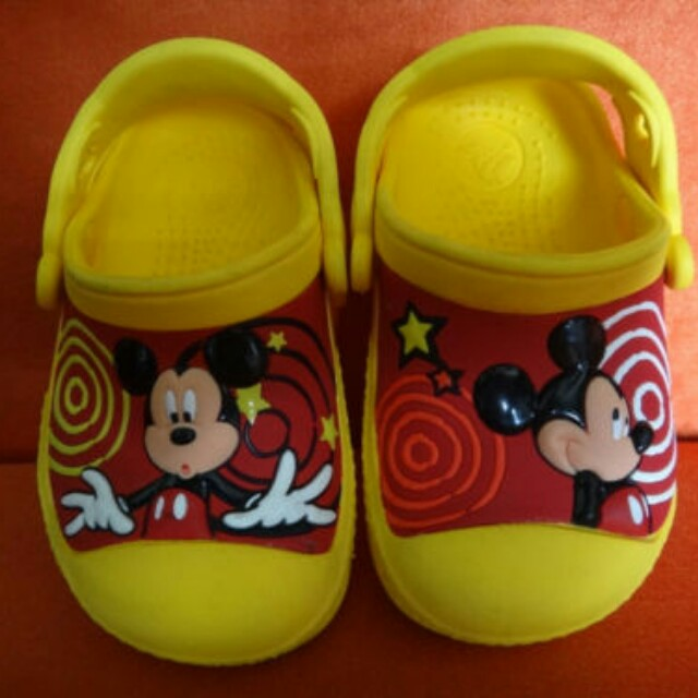 Baby Toddler Crocs Clogs Shoes Authentic Disney Mickey Mouse