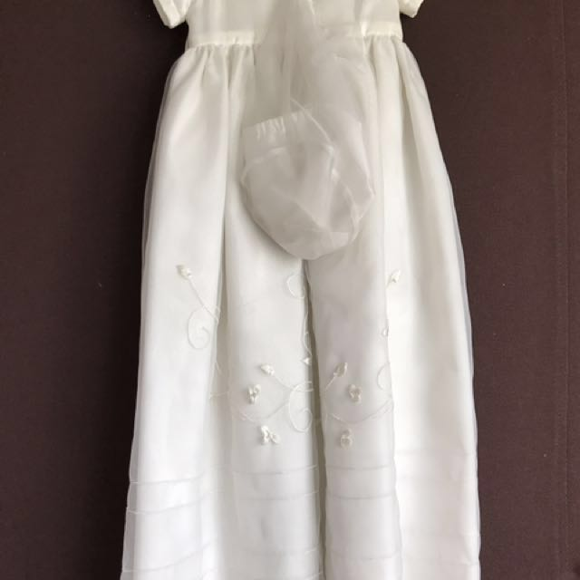 baptismal white gown original from rustan'a