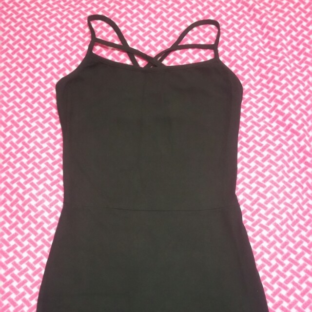 Black bodycon cocktail dress