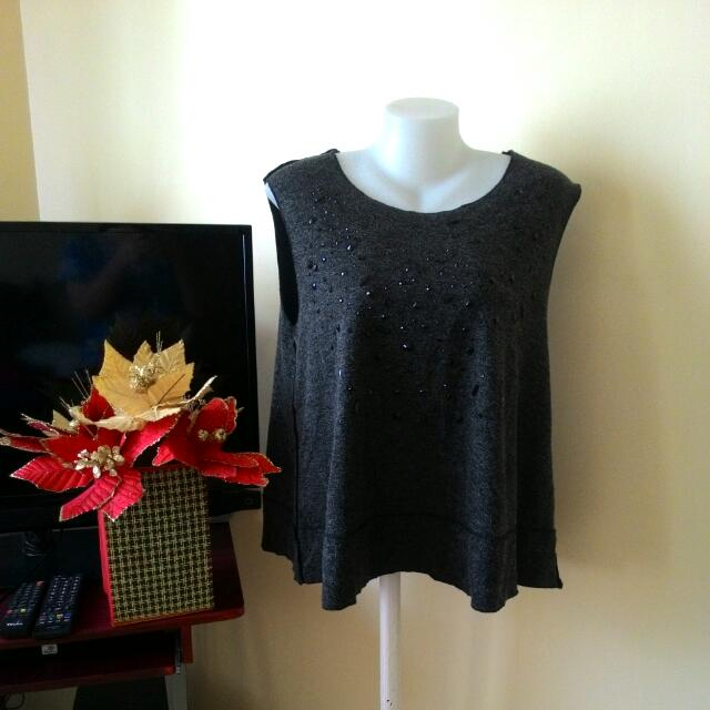 Black Embellished Blouse