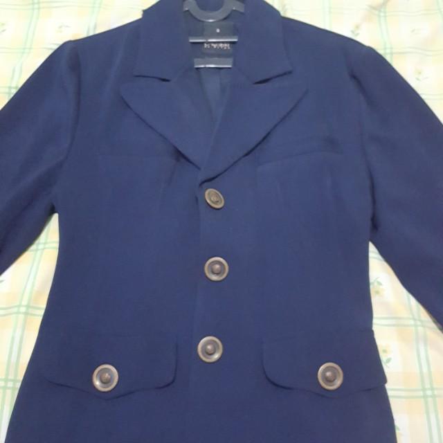 Blazer biru - jaket biru