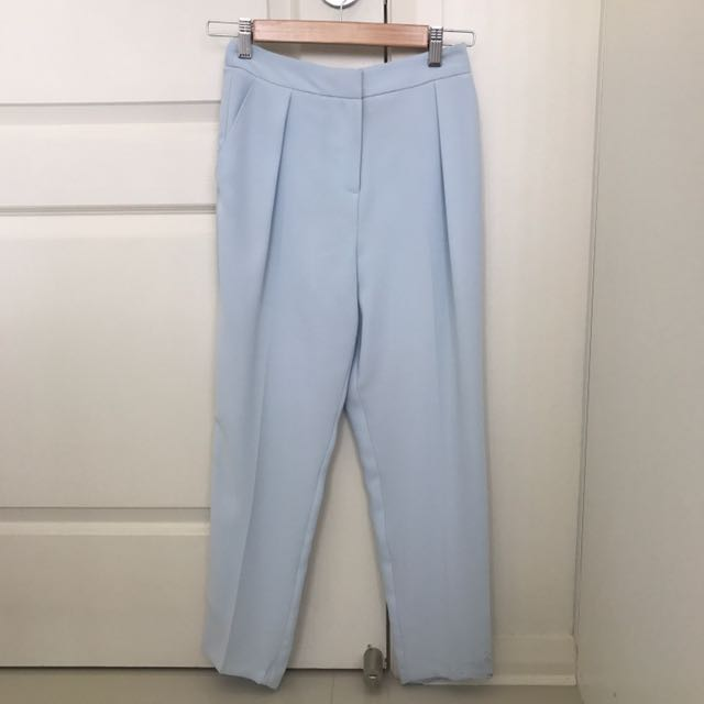 Blue structured trousers