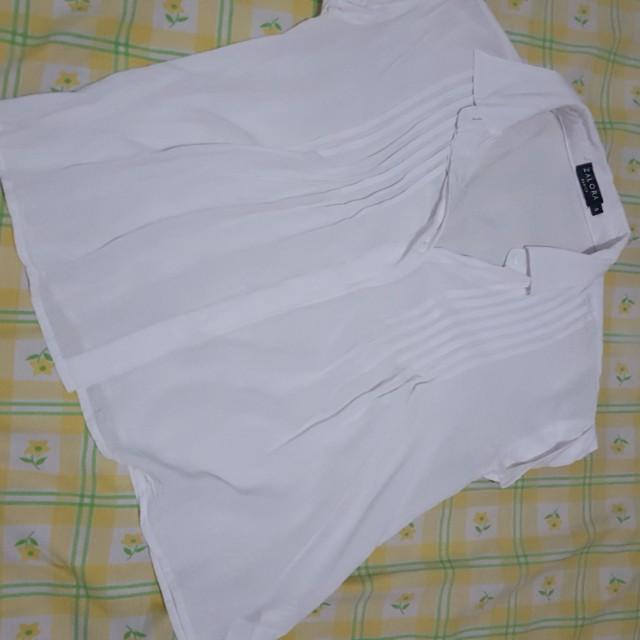 Blus putih - white shirt zalora